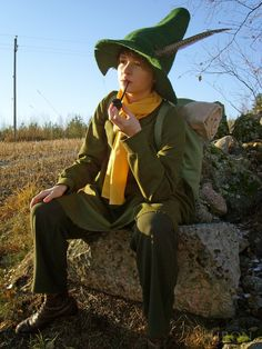Casualty Cosplay: Tick mark for Snufkin Cosplay Costumes, Halloween Costumes, Cosplay Ideas, Les Moomins, Moomin Valley, Tove Jansson, Model Face, Character Costumes, Cartoon Shows