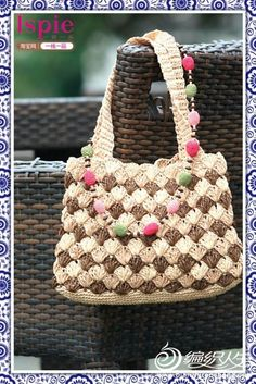 [Rafi] Summer crochet cotton grass bag summary article 40 paragraph section bag attached instructional videos - xrzs000 - Xinruzhishui