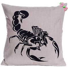 Caryko Home Decor Cotton Linen Square Pillow Case Cushion Cover (Scorpion) Caryko http://www.amazon.com/dp/B00YSHA33A/ref=cm_sw_r_pi_dp_yGgCvb0QMVHQY