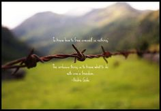 freedom+quotes | Andre Gide Picture Quote - What To Do With Freedom -
