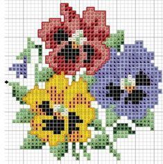 Cross Stitch Rose, Simple Cross Stitch, Cross Stitch Flowers, Cross Stitch Charts, Cross Stitch Designs, Cross Stitch Patterns, Cross Stitching, Cross Stitch Embroidery, Embroidery Patterns