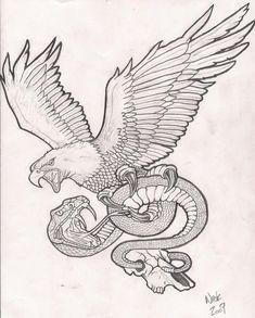 eagle-n-snake-tattoo-drawing.jpg 800×996 pixels