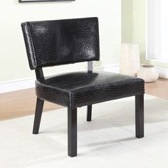 Crocodile Print Faux Leather Accent Chair PWL-383-630
