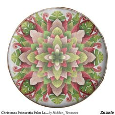 Christmas Poinsettia Palm Leaves Mandala Chocolate Covered Oreo Christmas Mandala, Christmas Poinsettia, Chocolate Dipped Oreos, Painted Christmas Ornaments, Oreo Pops, Tree Nuts, Oreo Cookies, Confectionery