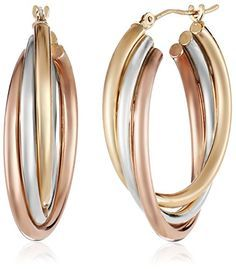 6b2db023b 14k GoldBonded Sterl Gold Hoop Earrings, Gold Hoops, Sterling Silver  Earrings, Drop Earrings