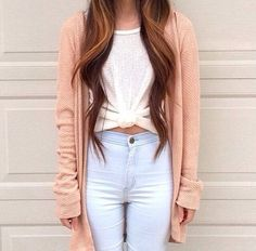 Cute! Would love a short sleeved version of that pink cardigan