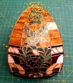 panel has been copper foiled and some tack solder completed Making Stained Glass, Stained Glass Crafts, Stained Glass Lamps, Artsy Fartsy, Art Projects, Christmas Decorations, Windows, Patterns, Modern