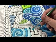 The Quilted Thistle's Coloring Quilts Tutorial: How to Paint Your Quilt Using Textile Paints - YouTube