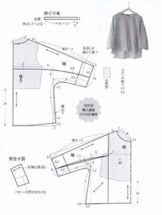 Metric measurements to reproduce free pattern. I'd likely have to adjust it again to western type body measurements. Dress Sewing Patterns, Blouse Patterns, Clothing Patterns, Linen Dress Pattern, Sewing Blouses, Japanese Sewing, Pattern Cutting, Pattern Drafting, Fashion Sewing