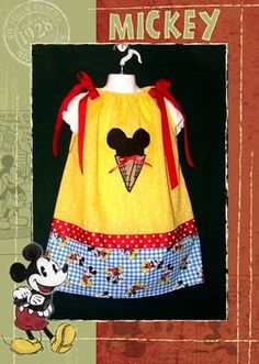 Mickey Mouse Dress 5T-5 Disney Couture & Yellow Flower Minnie Mouse Hair Bow -$6.00 for sale now on ebay. Search for ebay item number 200796132696