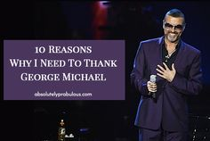 title image george michael on stage smiling