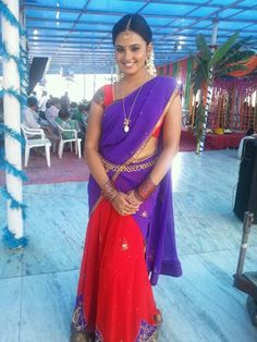 Aarushi in Half Saree