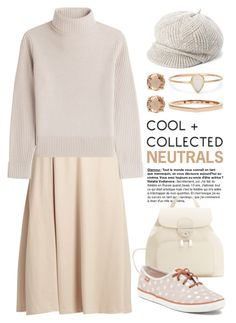 """""""Cool Neutrals 2508"""" by boxthoughts ❤ liked on Polyvore featuring MaxMara, Vanessa Seward, Catbird, Repossi, Jessica Simpson, MANGO and neutrals"""