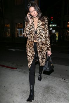 Kendall Jenner's 2016 style resolutions: embracing leopard.
