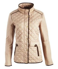 7311c4fcb1e116 Loving this Cement Flap-Pocket Quilted Jacket on #zulily! #zulilyfinds All  About