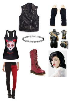 """Killjoy outfit for 2019"" by thesweetdangerparade ❤ liked on Polyvore featuring Tripp, Tommy Hilfiger, Dr. Martens and Dorothy Perkins"