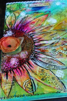 MarveLes MY SUNSHINE  Mixed Media Painted Canvas by marveles