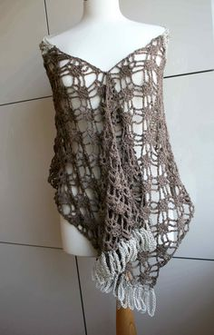 crochet pattern crochet cotton linen summer wrap by luzpatterns
