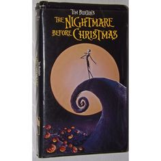 Rare Tim Burton's The Nightmare Before Christmas VHS Cassette Tape