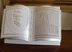 tattered lace book at DuckDuckGo 3d Cards, Folded Cards, Wedding Anniversary Cards, Wedding Cards, Tattered Lace Cards, Card Book, Sympathy Cards, Book Crafts, Baby Cards