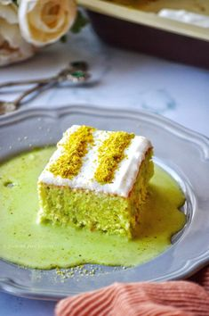 Pistachio Milk Cake/ Pistachio Tres Leches - - Pistachio Milk Cake or Tres Leches Cake is a super moist, sponge cake soaked in rich pistachio flavored milk sauce (which is made with three kinds of milk) and topped with lightly sweetened whipped…. Pistachio Milk, Pistachio Dessert, Milk Recipes, Cake Recipes, Flour Recipes, Authentic Mexican Desserts, Chocolate Tres Leches Cake, Sweetened Whipped Cream, Flavored Milk
