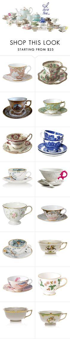 """I love tea......"" by home-23b on Polyvore featuring interior, interiors, interior design, Casa, home decor, interior decorating, Wedgwood, Coalport, Royal Crown Derby e Hermès"