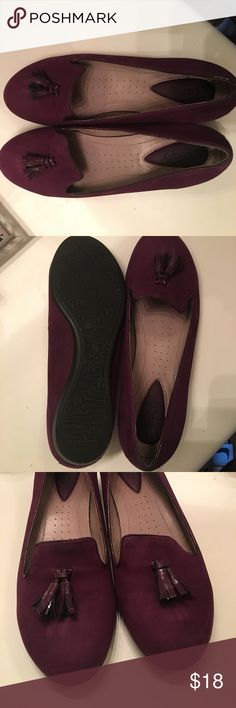 Ecco Ballerina Burgundy Size 9-9.5 With box Ecco Shoes Flats & Loafers