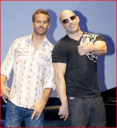 Sep 30 2009. Paul Walker and Vin Diesel attend the Japanese premiere of the film Fast & Furious in Tokyo, Japan.