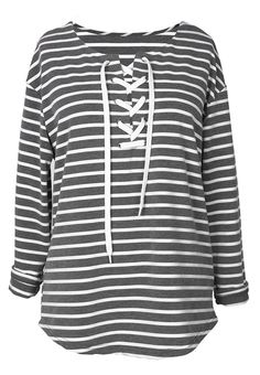 Only $23.99 for one week shipping! Go wherever the wind takes you in this stripe casual top. So gentle it feels that you can't wait to touch it. Hit more heated pieces at Cupshe.com !