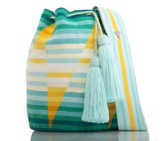 """New Cheap Bags. The location where building and construction meets style, beaded crochet is the act of using beads to decorate crocheted products. """"Crochet"""" is derived fro Crotchet Bags, Crochet Tote, Knitted Bags, Bead Crochet, Tapestry Crochet Patterns, Tapestry Bag, Cheap Bags, Casual Bags, Crochet Accessories"""