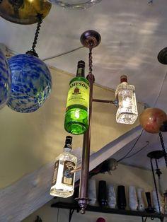 Jameson and Jack lightning together by Alex Pospotikis. Lightning, Lamps, Bronze, Lights, Mens Fashion, Handmade, Design, Home Decor, Style