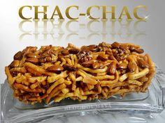 Je suis encore tombée tout à fait par hasard sur une belle recette simple à réaliser et très gourmande. Le çäkçäk, Chak-Chak,ou alors Chac-chac comme sur mes photos (erreur d'inattention) Une carte de visite, un plat traditionnel de la cuisine Tatare,...