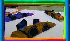 Activitats de reciclatge: formula 1 amb gafes a l'aula de 5 anys Educació Infantil