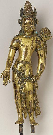 Avalokiteshvara. Gilt copper alloy, Nepal, 12th century, The Los Angeles County Museum of Art