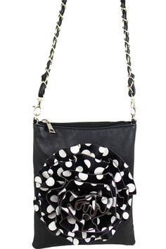 Black & Polka Dot Crossbody Bag