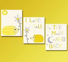 I love you to the moon and back Nursery Art Print by SugarInspire, $39.95
