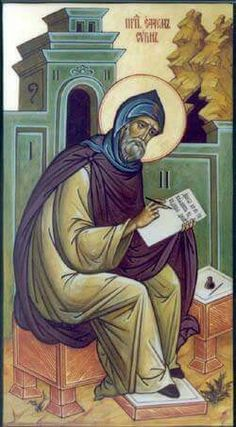 Prayers, Quips and Quotes: St. Ephrem of Syria, Feast Day June 9 Defender Of The Faith, Let Go And Let God, Ancient Mesopotamia, Byzantine Art, Heaven And Hell, Catholic Saints, Orthodox Icons, Sacred Art, Christian Art