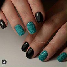 Beautiful nails 2017, Black nails ideas, Evening dress nails, Evening nails……