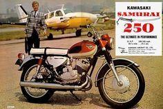 Vintage Reproduction Kawasaki Samurai 68/' Poster Advertisement Home Decor Art