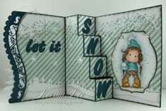 From My Craft Room: Let It Snow 4-Step Card - Magnolia-licious 'Winter Theme or Anything Goes'