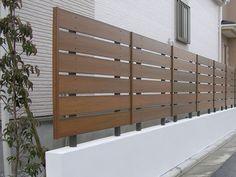目隠しフェンスで快適で素敵なお庭にリフォーム グリーンケア House Fence Design, Front Fence, Backyard Fences, Design Case, Wall Spaces, Future House, Blinds, Exterior, Outdoor Structures