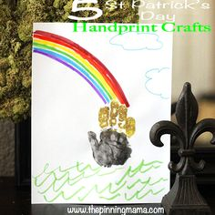 5 Saint Patricks Day Kids Handprint Crafts - Click here to see all