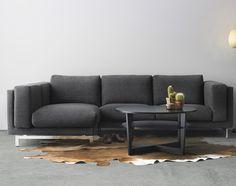IKEA NOCKEBY bank met grijze bekleding