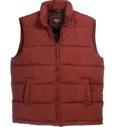 men s orange puffer vest 431d6b5dc285