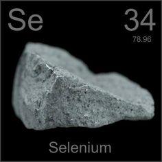 Qué sabemos.- El selenio (del griego σελήνιον, resplandor de la Luna) fue descubierto en 1817 por Jöns JacobBerzelius. Al visitar la fábrica de ácido sulfúrico de Gripsholm observó un líquido pardo rojizo quecalentado al soplete desprendía un olor fétido que se consideraba entonces característico y exclusivodel telurio —de hecho su nombre deriva de su