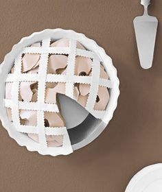 Pie made of Paper. Paper construction of a pie by Matthew Sporzynski