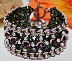 bracelet using 6's and triangle beads