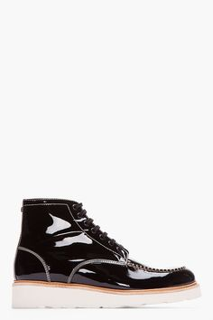 DSQUARED2 Black Patent Leather Vernice Boots