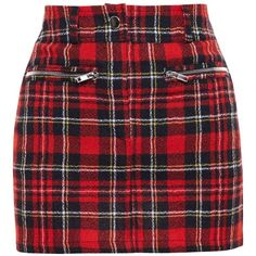Filles A Papa Tartan Wool Mini Skirt (625 RON) ❤ liked on Polyvore featuring skirts, mini skirts, bottoms, gonne, red, tartan skirt, red plaid skirt, red plaid mini skirt, red skirt and short red skirt