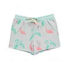 Tropicool pink flamingos shorts Blue  Blune Kids